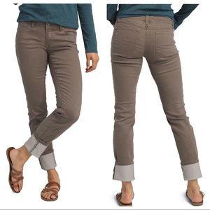 Prana NEW Kara Straight Leg Jeans Dark Mud Size 8